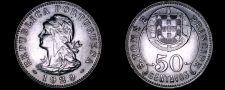 Buy 1929 Saint Thomas & Prince Island 50 Centavo World Coin