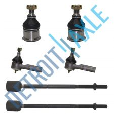 Buy 6 pc Set Front Driver and Passenger Inner + Outer Tie Rod + 2 Lower Ball Joint