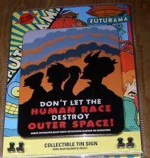 Buy Futurama Tin Professor Fry Leela Cubicle Sign Space
