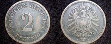 Buy 1874 A German 2 Pfennig World Coin - Germany