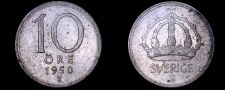 Buy 1950-TS Sweden 10 Ore World Silver Coin