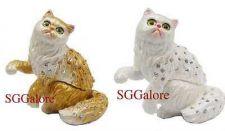 Buy New RUCINNI Swarovski Crystals BeJeweled CAT Trinket Jewelry BOX