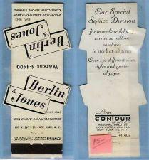 Buy New York New York Contour Matchcover 4 Large Envelopes Advertising Berlin ~635