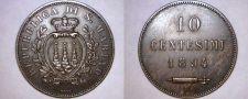 Buy 1894-R San Marino 10 Centesimi World Coin