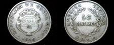 Buy 1948 Costa Rican 50 Centimos World Coin - Costa Rica