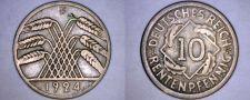 Buy 1924 F German 10 Reichspfennig World Coin - Germany Weimar Republic
