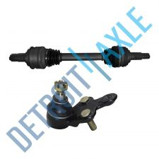 Buy 2 pc Set - Front Driver Side CV Axle Shaft + Lower Ball Joint - Made in USA
