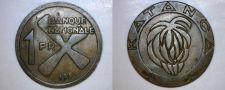 Buy 1961 Katanga 1 Franc World Coin