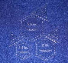 """Buy Quilt Templates-6 Piece Set 1/2 Sizes S- Hexagons & Equilateral Triangles 1/8"""""""
