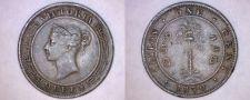 Buy 1870 Ceylon Sri Lanka 1 Cent World Coin