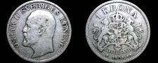 Buy 1906 Sweden 1 Kronor Krona World Silver Coin