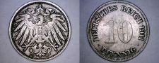 Buy 1911-G German 10 Pfennig World Coin - Germany