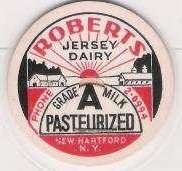 Buy New York New Hartford Milk Bottle Cap Name/Subject: Robert's Jersey Dairy ~242