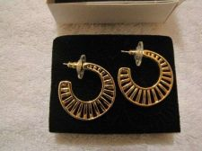 Buy Sarah Coventry Jewelry..Fillgree open wire hoop earrings (Caprice) #1136