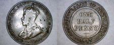 Buy 1917-I Australian Half Penny World Coin - Australia