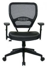 Buy Office Chair Computer Desk Air Grid Back Managers Leather Seat Tilt Control
