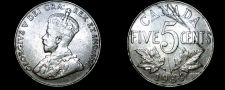 Buy 1934 Canadian 5 Cent World Coin - Canada
