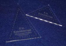 """Buy 2 Piece Set Kaleidoscope 6"""" Templates Acrylic ~1/4"""" thick. Quilting/Sew"""