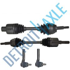 Buy Complete Front Driver/Passenger Side CV Drive Axle + 2 NEW Outer Tie Rods