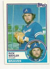 Buy 1983 O-Pee-Chee Rick Mahler Atlanta Braves #76 Baseball Card