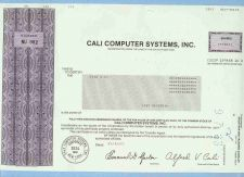 Buy New York na Stock Certificate Company: Cali Computer Systems, Inc. ~19