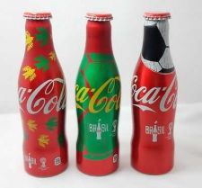 Buy COKE COCA COLA ALUMINUM BOTTLES FIFA WORLD CUP 2014 LIMITED EDITION X 3 Bottles