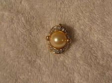Buy Sarah Coventry Jewelry Pearl with Pave Enhancer Pendant #1361