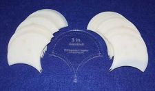 """Buy Mylar 3"""" Clamshell 51 Piece Set - Quilting / Sewing Templates -"""