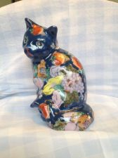 Buy antique porcelain blue IMARI cat . Marked : 6 dinasty