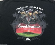 "Buy TOMMY BAHAMA Mens Graphic Tee T-SHIRT sz L ""GOOD FEATHAS"" - RARE"