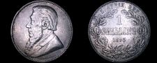 Buy 1895 South African 1 Shilling World Silver Coin - South Africa