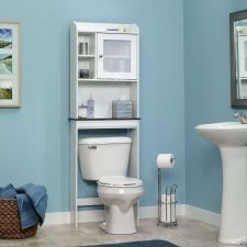 Buy Bathroom Space Saver Bath Cabinet White Furniture Over Toilet Sauder Wood