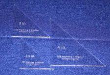 "Buy 3 Piece Triangle Set 2 1/2 "",3"" ,4"" 1/8"" - Cut Width of Fabric Strips"