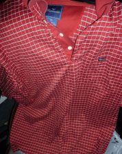 Buy Facconable Polo Shirt sz XL RED White Stripes EUC