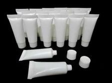 Buy Lots 100 Empty White Foam Tubes Travel Cosmetic Skincare 10 g 10 ml. Portable