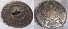 Buy 1912 Austrian 2 Corona World Silver Coin - Austria - Button
