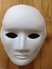 "Buy FOUR ITEMS - White ""Blank"" Mask - Fast Free Shipping USA Seller"