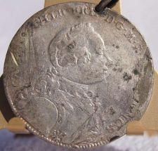 Buy 1753 German States Brandenburg-Ansbach 2/3 Thaler World Silver Coin - Hole/Loop