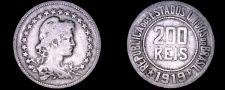 Buy 1919 Brazilian 200 Reis World Coin - Brazil