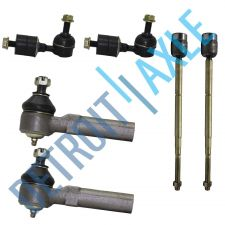 Buy 6 pc Set: 2 Front Inner Tie Rod End, 2 Outer Tie Rod End, 2 Stabilizer Bar Link