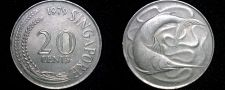 Buy 1979 Singapore 20 Cent World Coin - Swordfish