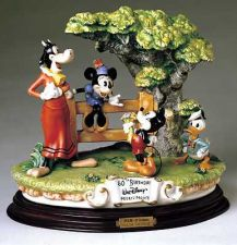 Buy Mickey Donald Clarabelle Cow Capodimonte Disney Laurenz C.O.A. Original Box