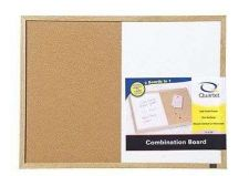 Buy Standard Dry Erase And Cork Combination Board 17x23 Inches Oak Frame Whiteboard