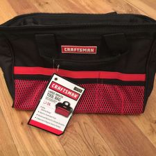 "Buy Lot of 2 Craftsman LARGE MOUTH Tool Bag 13"" NEW - FAST FREE SHIPPING"