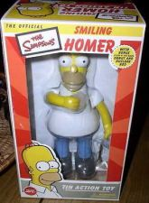 Buy Simpsons Smiling Homer Tin Wind Up Action Toy