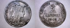 Buy 1912 French 2 Centimes World Coin - France