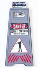 Buy Forum Novelties Zombie Crossing Sign And Tape Halloween Decoration Prop Hallowee