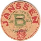 Buy New York Whitney Point Milk Bottle Cap Name/Subject: Janssen Milk MBCBag1~431