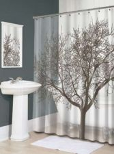 Buy Splash Home Tree Mocha Eva Shower Curtain Bath Liner Bathroom Fabric Cover