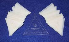 "Buy Mylar 2"" High Set -Equilateral Triangles -51 Piece Set -Template-"